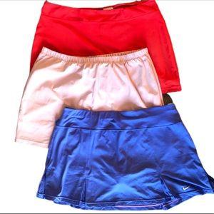 3 Piece Lot Nike XL Tennis Skirt w/ Shorts Skorts